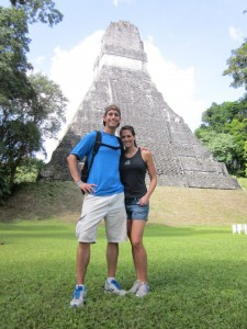 With Mike at Tikal in Guatemala Nov 2012