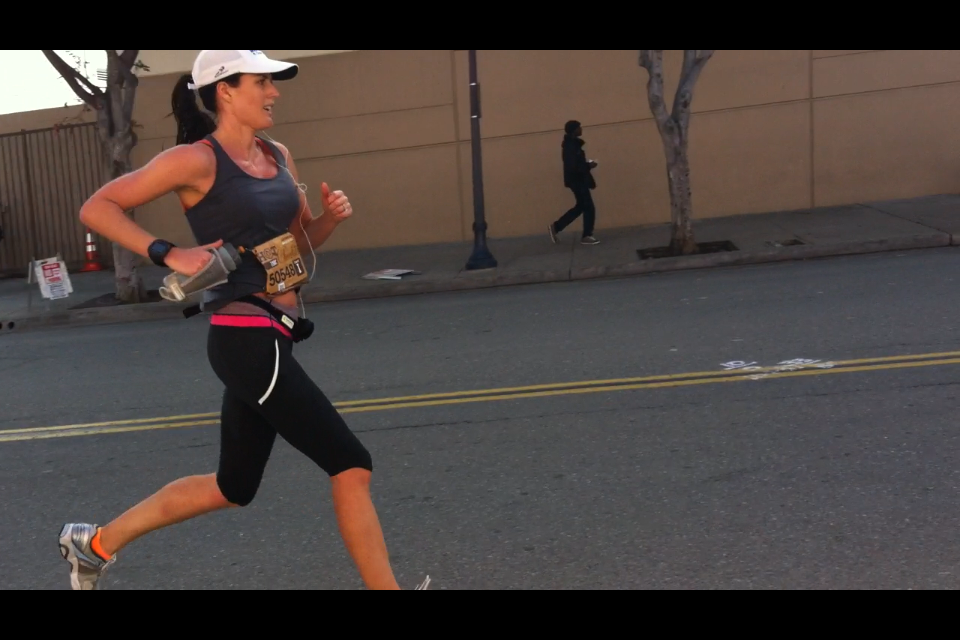 Seeing Mike at Mile 9