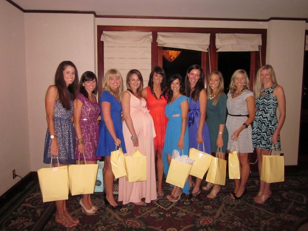 With my amazing bridesmaids!