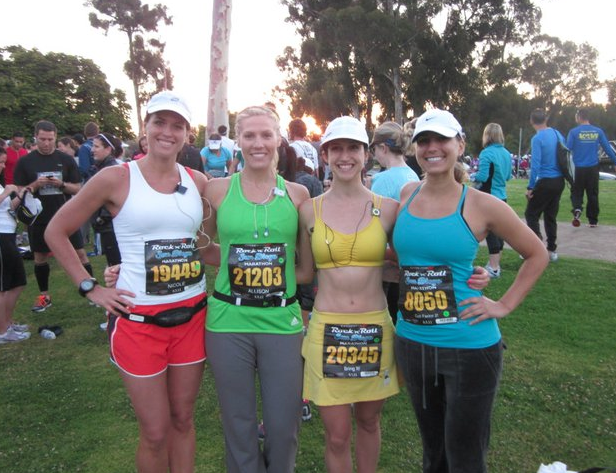 With friends before the race in 2011