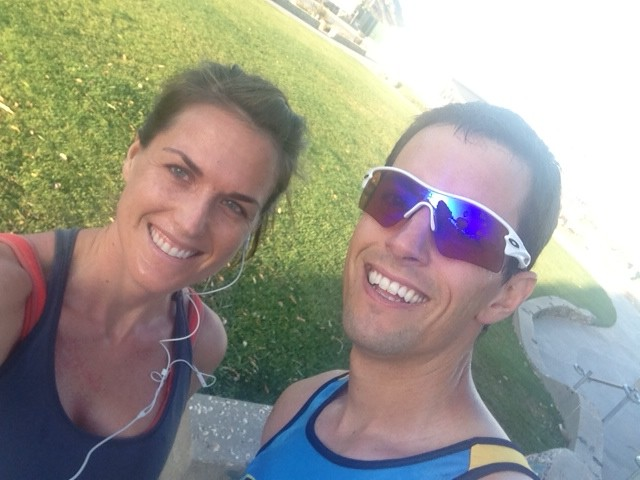 Early morning tempo with my love!