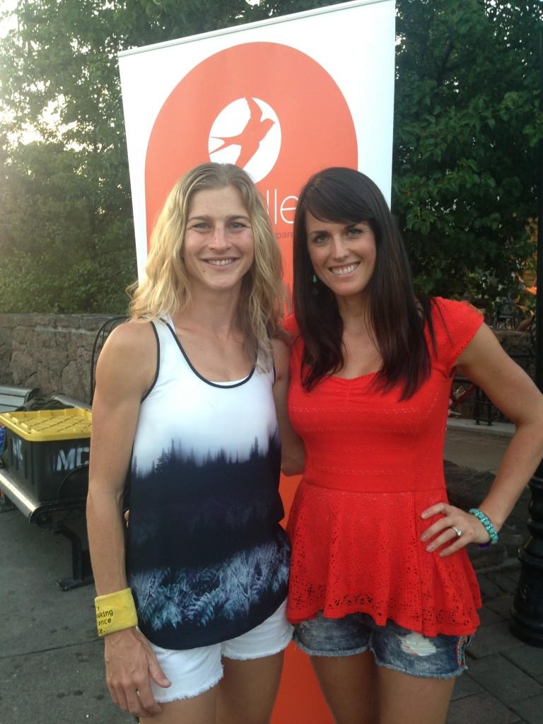 With Lauren!