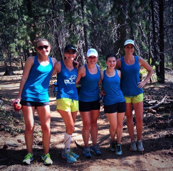 Lots of Oiselle clothing action happening at last year's bird camp