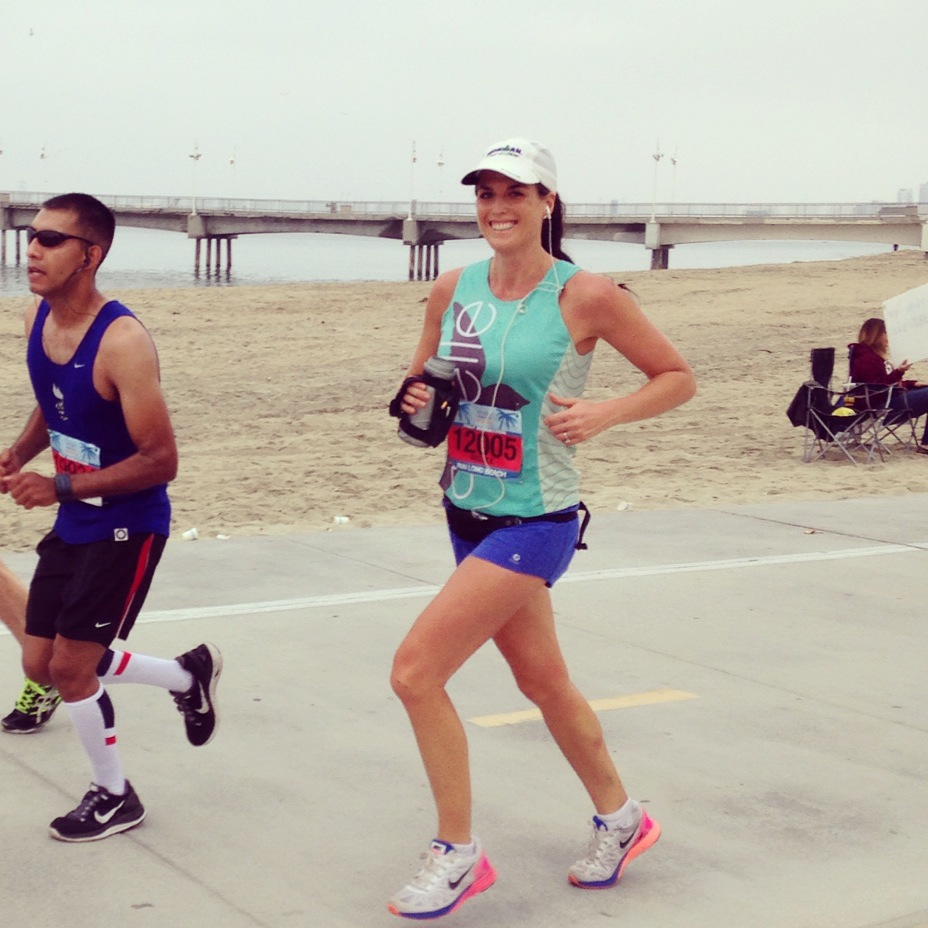 Beachside running at the Long Beach half