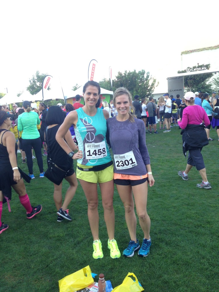 Fellow San Diego Blogger Kate & Me at the Fit Foodie 5k