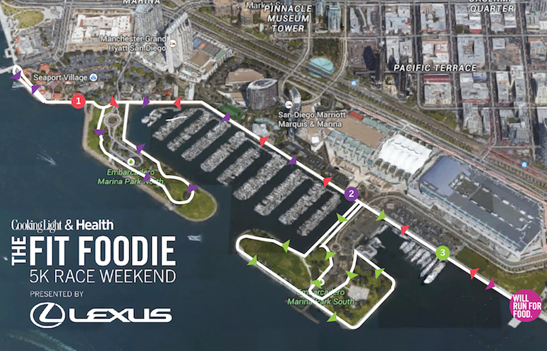 Fit Foodie 5k Race Course - Source