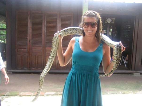 Holding a Snake in Vietnam!