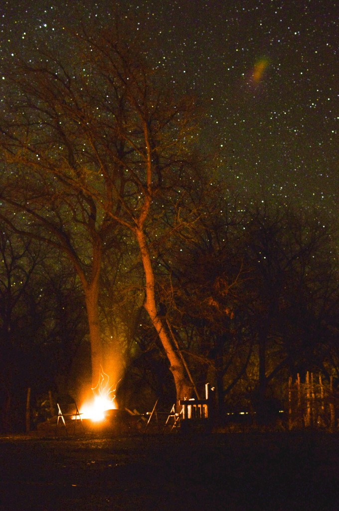 mike got a great shot of the stars after our campfire