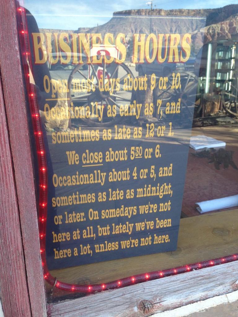 Operating hours of Virgin's only restaurant
