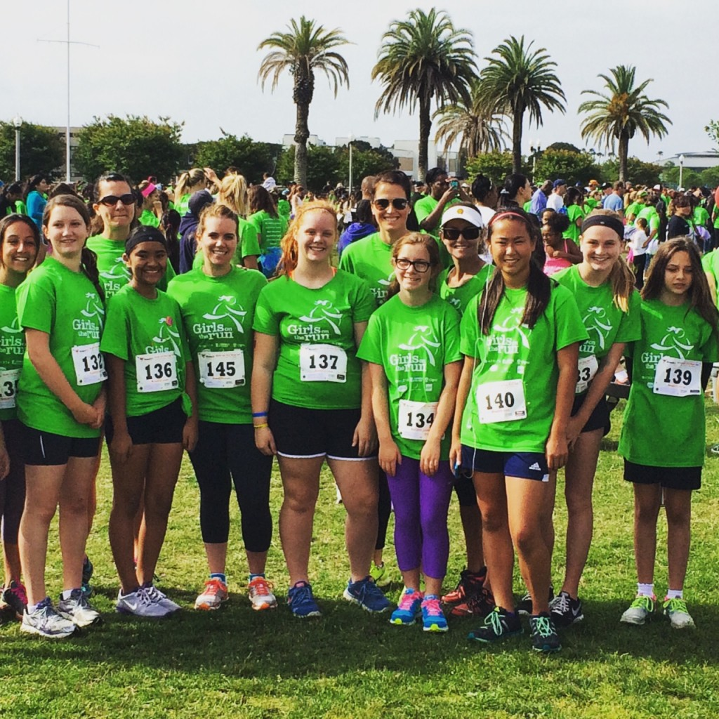 My Team at the Girls on the Run 5k