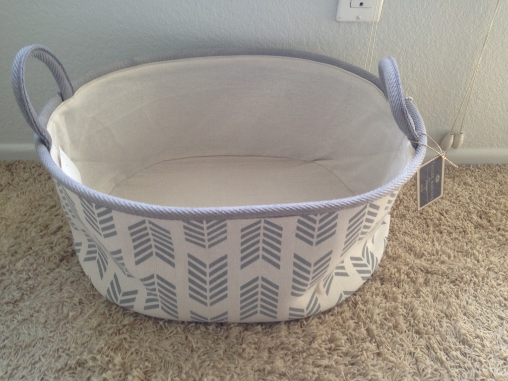 Nursery toy basket which fit the theme perfectly