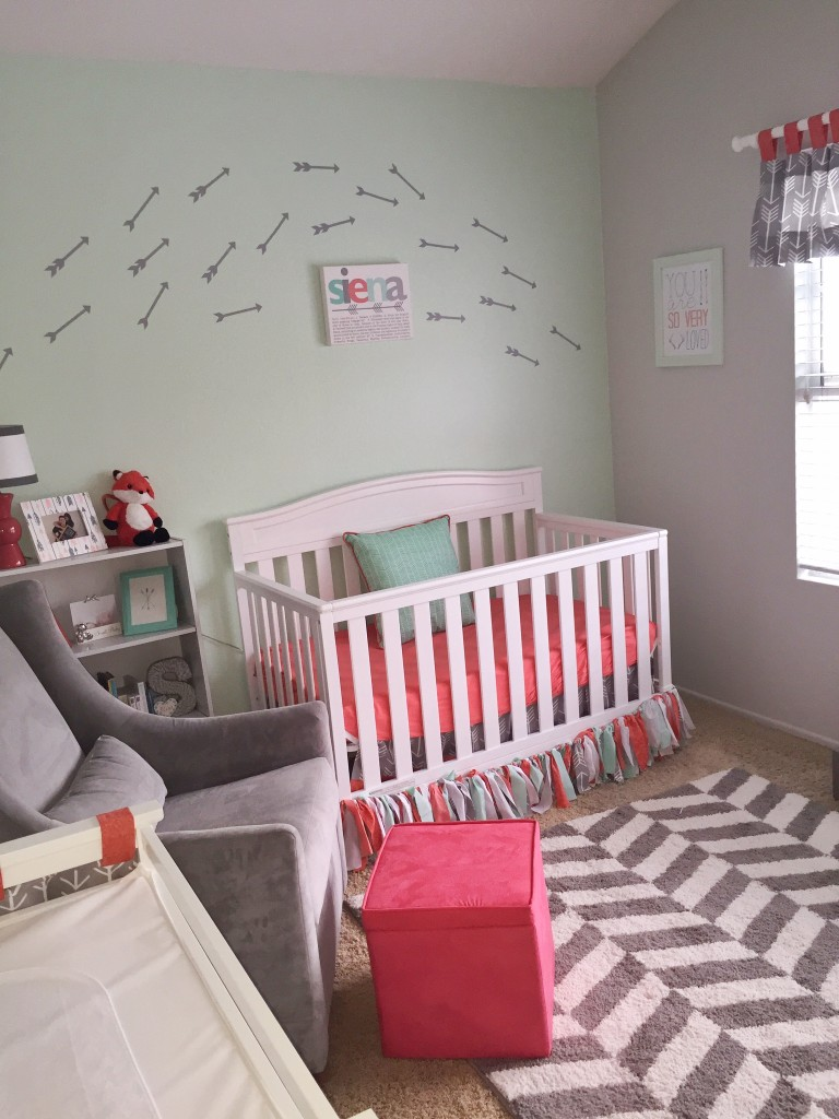 coral grey mint nursery