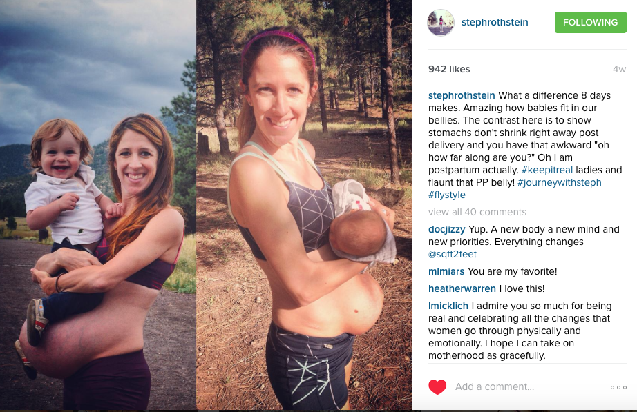 Steph keeping it real about her postpartum body