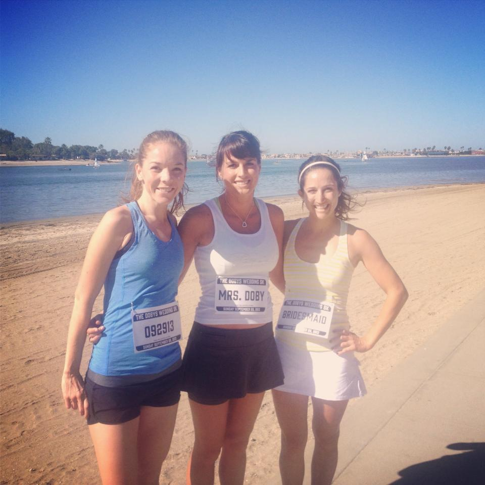 Page, Asia and I at our post wedding 5k