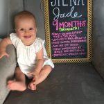 Dear Siena – 9 Months