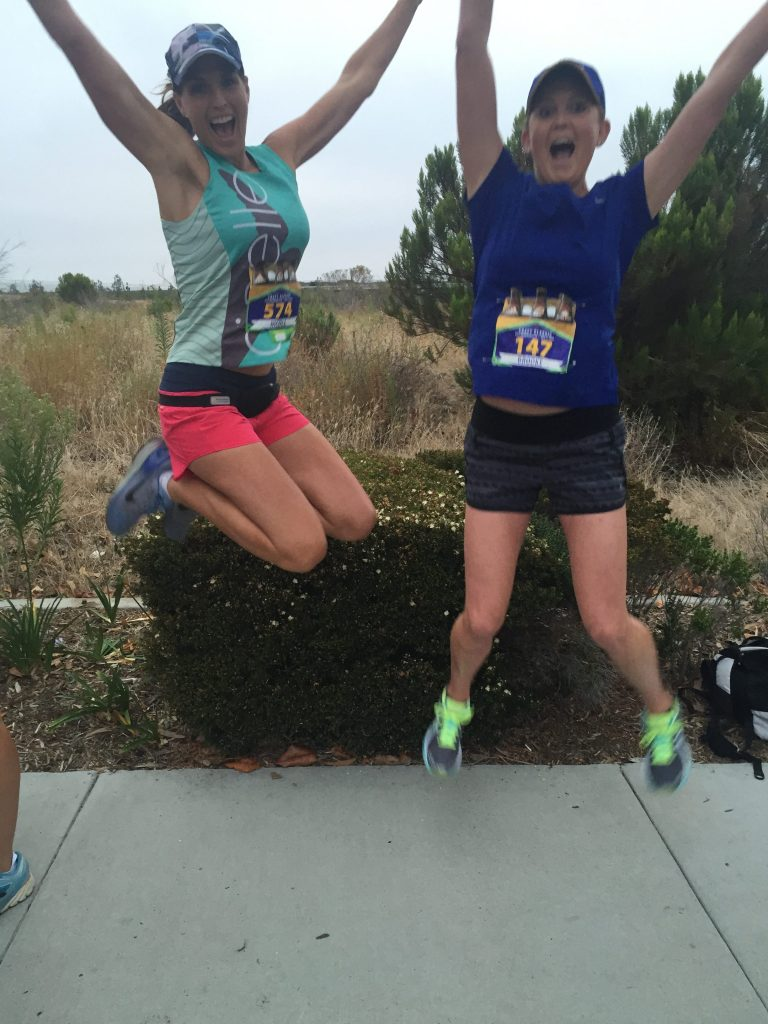 Brooke and I getting excited to race!