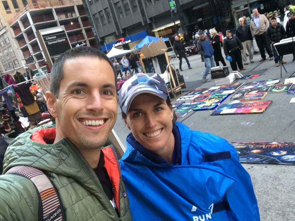 Post race poncho selfie with my #1 Fan. I couldn't have done it without you Mike!